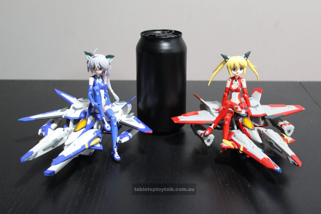 The girls and their ships. 375mL drink can for scale