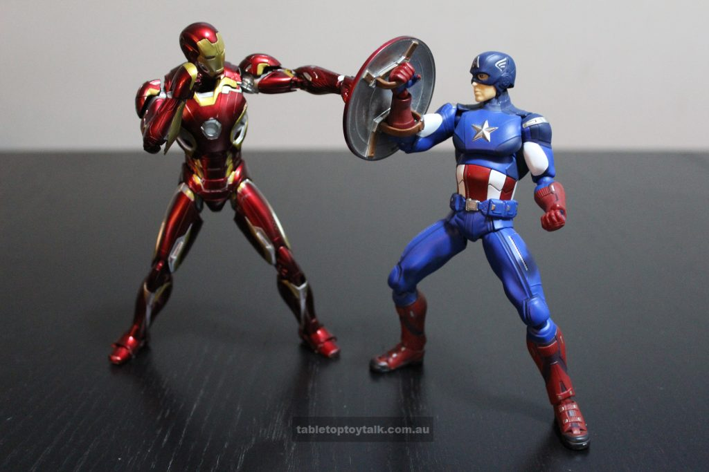 Squaring off against Figma Captain America